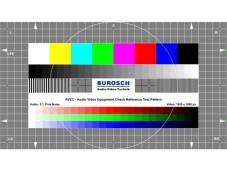 Testbild des Burosch Audio Video Equipment Check. ©Burosch