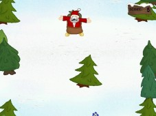Downhill Santa