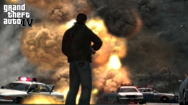 Actionspiel GTA 4: Explosion