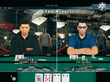 World Series of Poker 2008 - Battle for the Bracelets: Sie bluffen erneut, aber Ihre Chancen, zu gewinnen, stehen nur bei vier Prozent. Vielleicht hätten Sie in diesem Fall besser aus dem Spiel gehen sollen.