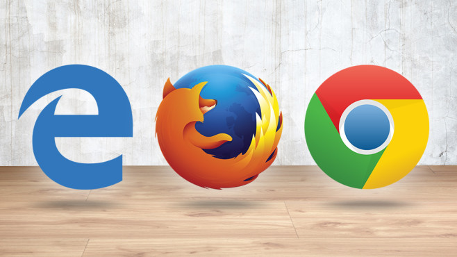 Browser-Test: Internet Explorer, Chrome, Firefox ©Google, Microsoft, Firefox, Eugene Sergeev - Fotolia.com, scenery1 - Fotolia.com