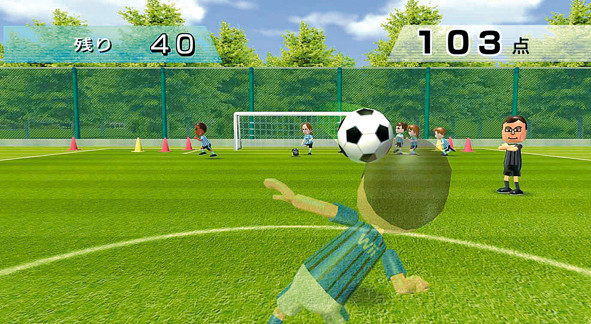Sportspiel Wii Fit: Kopfball-Training