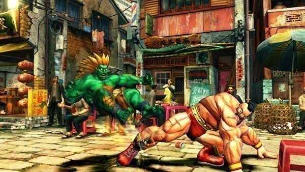 Pr�gelspiel Street Fighter 4: Fu�feger © Capcom