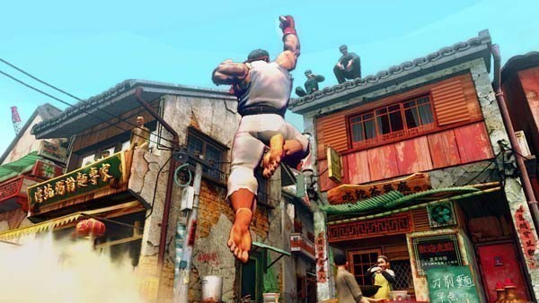 Pr�gelspiel Street Fighter 4: H�user © Capcom