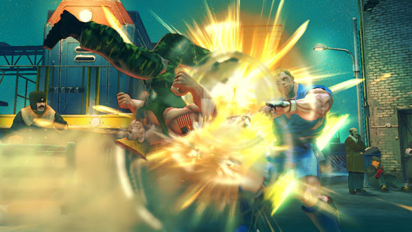 Pr�gelspiel Street Fighter 4: Kick © Capcom
