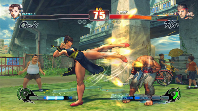 Pr�gelspiel Street Fighter 4: Superkick © Capcom