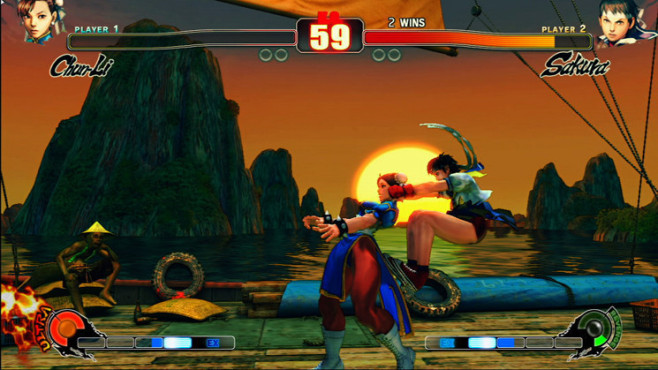 Pr�gelspiel Street Fighter 4: Wurf © Capcom