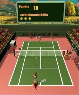 Moorhuhn-Special: Moorhuhn Tennis