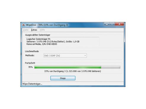 W. Rumpeltesz WipeDisk 1.1.1 ©COMPUTER BILD