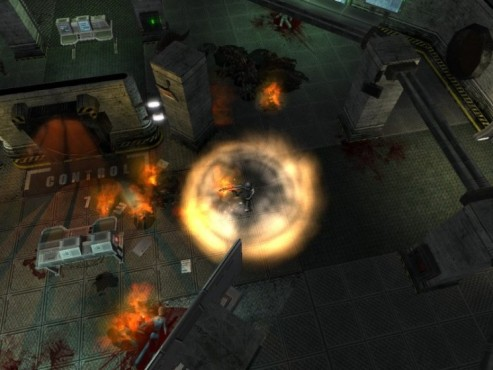Actionspiel Shadowgrounds Survivor: Flammenwand © Frozenbyte
