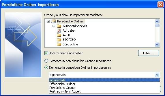 Bildergalerie: E-Mails in Outlook Importieren