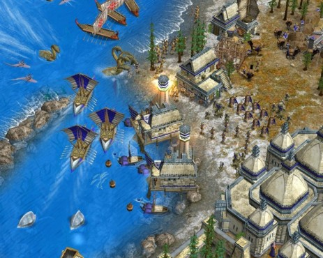 Strategiespiel Age of Mythology Gold: Seeschlacht