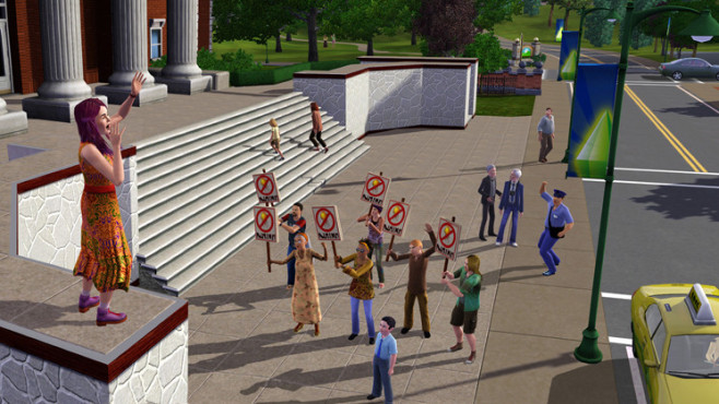 Simulation Die Sims 3: Demonstration