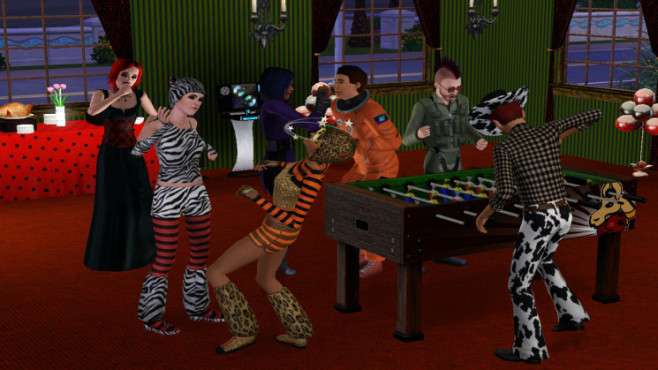Simulation Die Sims 3: Halloween-Party