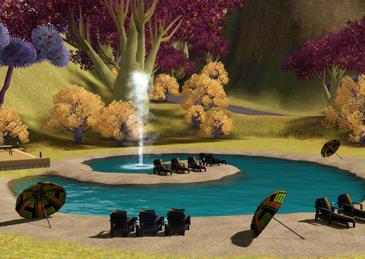Simulation Die Sims 3 – Lunar Lakes: Relax © Electronic Arts