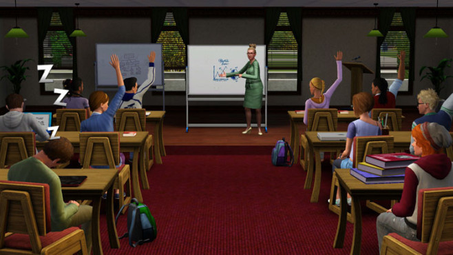 Simulation Die Sims 3 � Wildes Studentenleben: H�rsaal © Electronic Arts