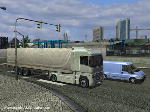 Simulation Euro Truck Simulator: Ampel © SCS Software
