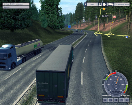 Simulation Euro Truck Simulator: Autobahn © SCS Software