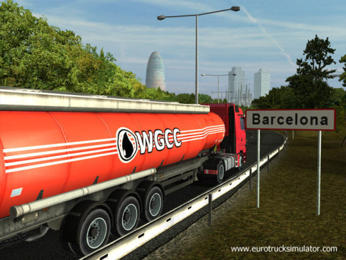 Simulation Euro Truck Simulator: Barcelona © SCS Software