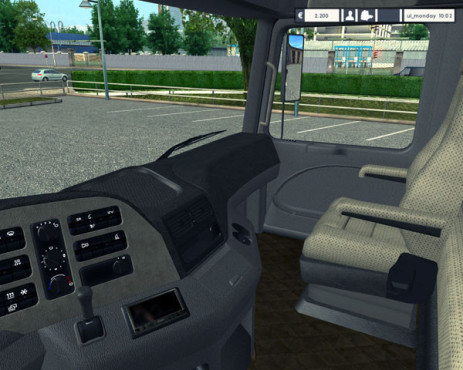 Simulation Euro Truck Simulator: Cockpit © SCS Software