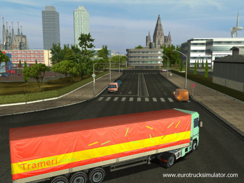 Simulation Euro Truck Simulator: Kreuzung © SCS Software