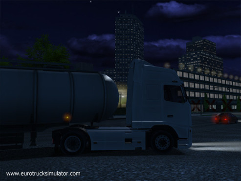 Simulation Euro Truck Simulator: Nacht © SCS Software