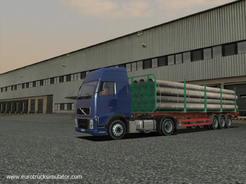 Simulation Euro Truck Simulator: Stahlrohre © SCS Software