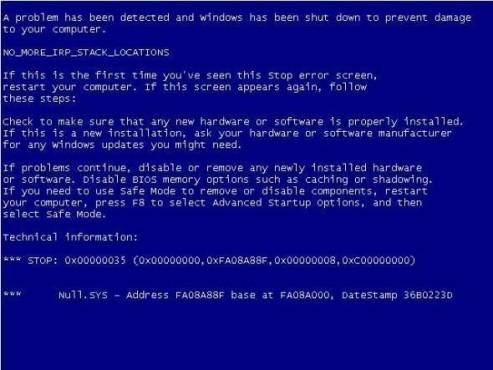 BlueScreen Screen Saver ©COMPUTER BILD