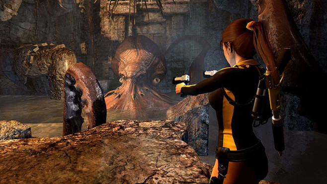 Actionspiel Tomb Raider � Underworld: Tentakel © Eidos Interactive