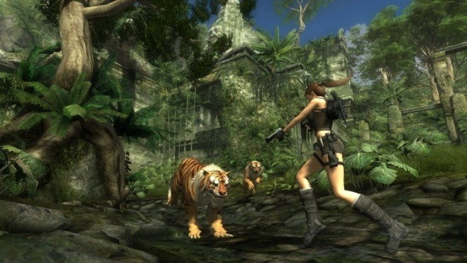 Actionspiel Tomb Raider � Underworld: Tiger © Eidos Interactive