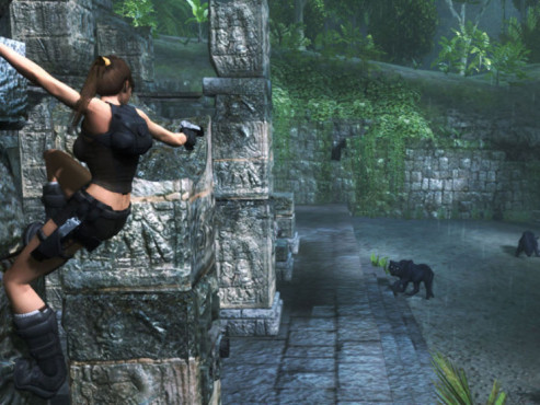 Actionspiel Tomb Raider � Underworld: Visier © Eidos Interactive