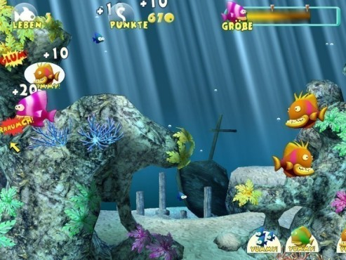 Actionspiel Little Piranha: Unterwasserwelt