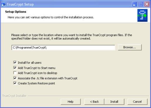 Installation von TrueCrypt: Standard-Installation ©COMPUTER BILD