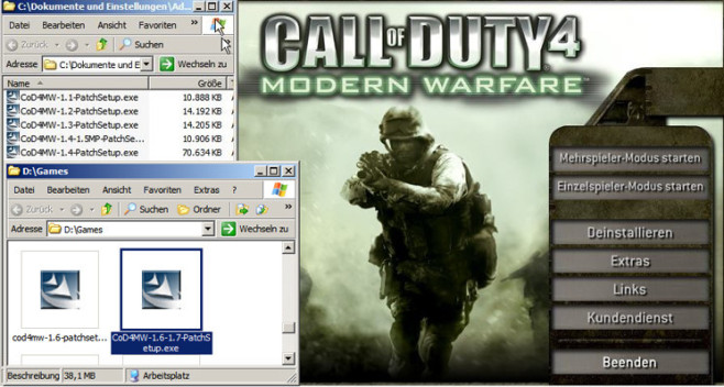 Actionspiel Call of Duty 4: Modifikation © Activision