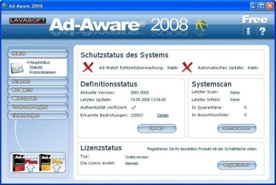 Ad-Aware: Anti-Spionage © COMPUTER BILD