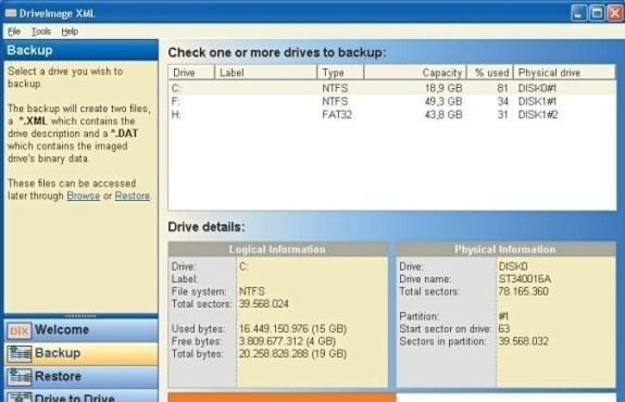 Drive Image XML 1.21