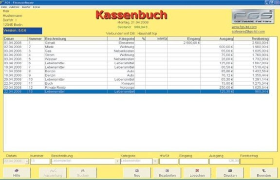 FGS Kassenbuch 5.0.6