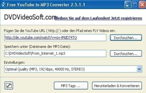 Free YouTube to MP3 Converter 2.5.1.1