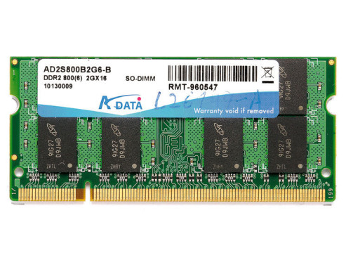 A-Data DDR2 2GB SO-DIMM 800MHz PC2-6400 CL6 (AD2S800B2G6-B): DDR2-Speichermodul