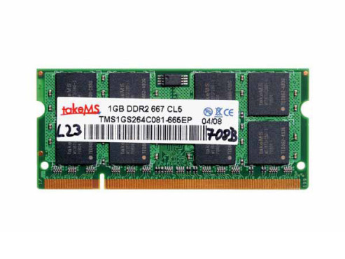 takeMS DDR2 1024MB SO-DIMM 667MHz PC2-5300 CL5 (TMS1GS264CO81-665AP): DDR2-Speichermodul