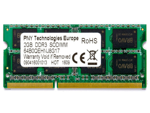 PNY Optima DDR3 2GB SO-DIMM 1.066MHz PC3-8500 CL7 (SODI102GBN/8500/3-BX): DDR3-Speichermodul