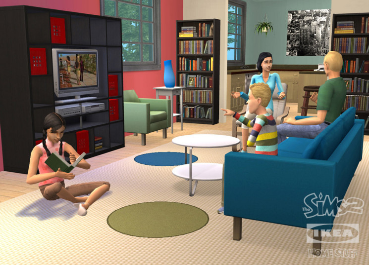 die sims 2 ikea home accessoires schwedische m bel f rs virtuelle wohnzimmer computer bild. Black Bedroom Furniture Sets. Home Design Ideas