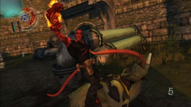 Actionspiel Hellboy – Science of Evil: Steinfaust © Konami
