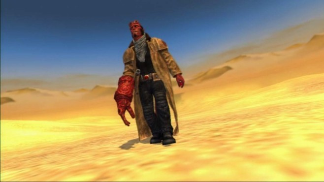 Actionspiel Hellboy – Science of Evil: Wüste © Konami