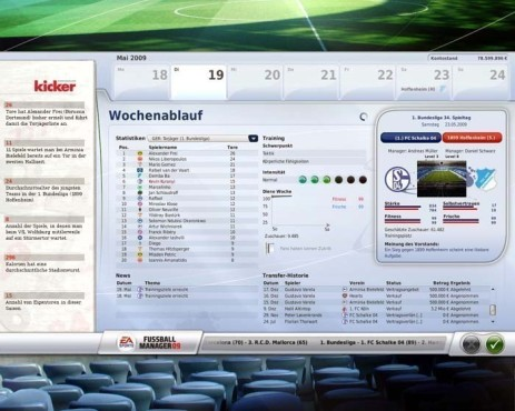 Managerspiel Fu�ball Manager 09: Woche