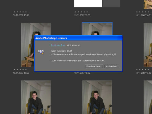 Adobe Photoshop Elements: Foto-Backup