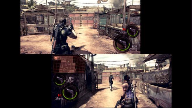 Actionspiel Resident Evil 5: Splittscreen