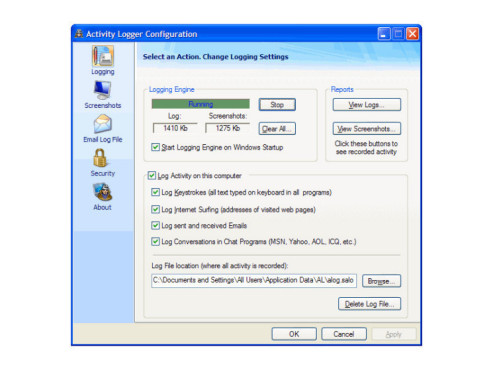 Activity Logger: Spionage-Software