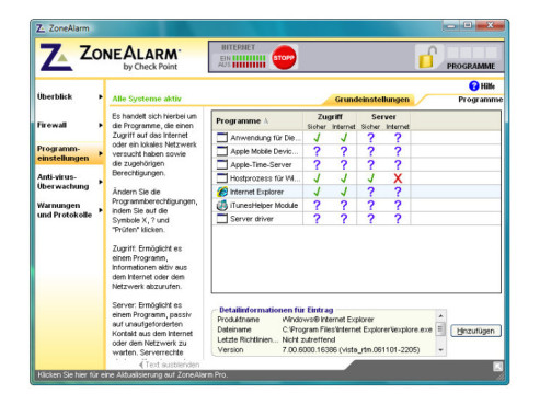 ZoneAlarm: Firewall