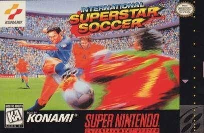 Fu�ballspiel International Superstar Soccer: SNES-Packshot © Konami